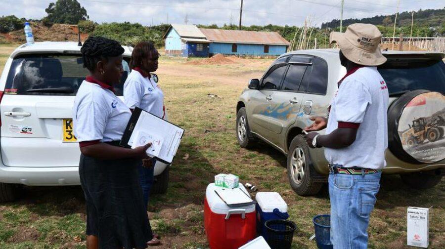 Aufbau einer zentralen Impfstation
